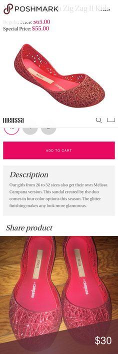 Girls Melissa & Campana Flats Red Glitter Flats 💫🎈❤️ melissa & campana Shoes Dress Shoes