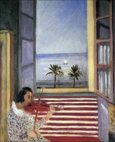 Young Woman Playing Violin, 1923-Henri Matisse