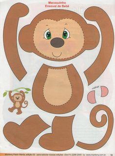 Priscila Racquel: Macaco Pingente de porta