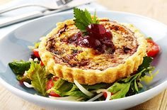 Chicken and Cranberry Quiches