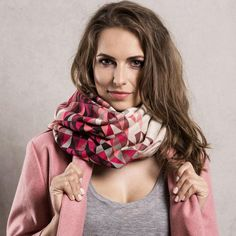 Knitwear Shawl with Snap Fastener Closure PINK from CADO accessories by DaWanda.com