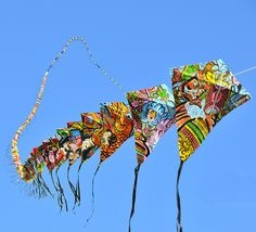 300 kites, 600 meters, all hand made and hand drawn by a kite flyer