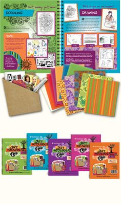 Kids art journal kit