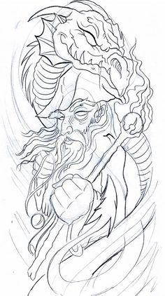 tattoo art wizard - Google Search