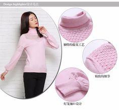 Femmes laine pull en cachemire d'hiver tricoté pulls 2015 nouvelle roulé pulls…