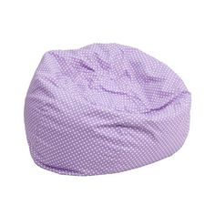 Flash Furniture DG-BEAN-SMALL-DOT-PUR-GG The comfy bean bag chair is a great way for kids to sink into comfort. The lightweight bean bag allows children to tote it all over the house. The slipcover ca Small Bean Bags, Cool Bean Bags, Kids Bean Bags, Oversized Bean Bag Chairs, Small Bean Bag Chairs, Purple Bean Bags, Green Bean, Soft Seating, Kids Seating