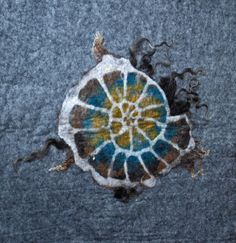 Brita Stein felted ammonite