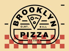 Bklyn Pizza designed by Noah Revoir. Connect with them on Dribbble; Ticket Design, Pizza, Inspiration, Biblical Inspiration, Inhalation, Motivation