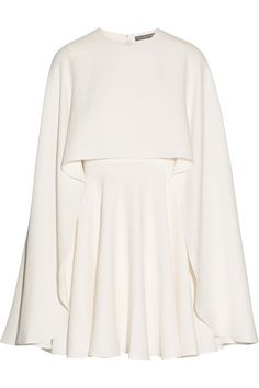 Ivory silk-cady Concealed hook and zip fastening at back 100% silk Dry clean Made in Italy