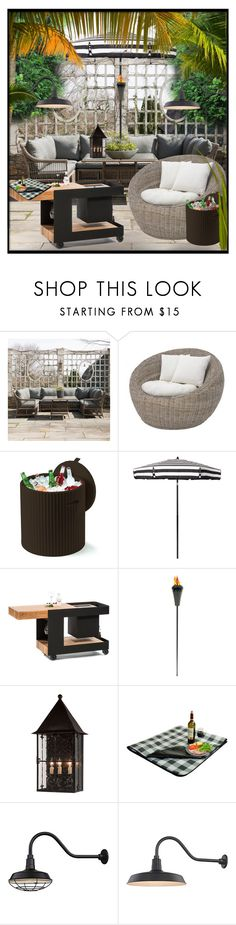 """""""Outdoor Party!"""" by eco-art ❤ liked on Polyvore featuring interior, interiors, interior design, home, home decor, interior decorating, Nook, Keter, Picnic at Ascot and Campania International"""