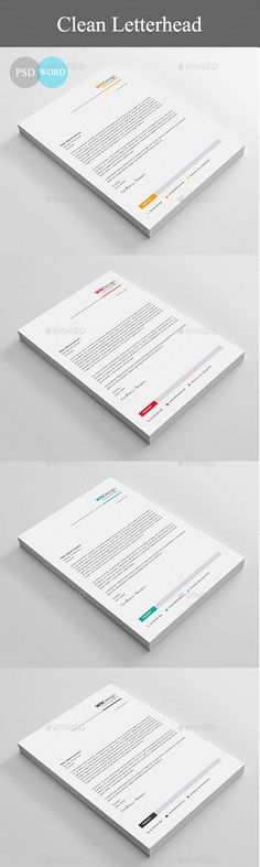 #Letterhead - Stationery Print #Templates Download here: https://graphicriver.net/item/letterhead/19420484?ref=alena994