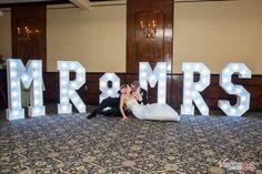 Music Man Entertainment 4' Light Up Wedding Letters - Jennifer & Charles - 02/18/17 @ The Century House / Scotia, NY / Saratoga Weddings / Photo by Viscosi Photography / DJ Mike Garrasi / www.MusicManEntertainment.com / 518-842-4065