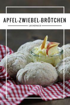 Apfel-Zwiebel-Sauerteig-Brötchen mit Meerrettich-Butter