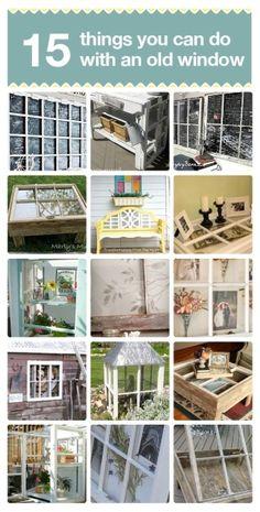 15 great idea for repurposing an old window. by marjorie
