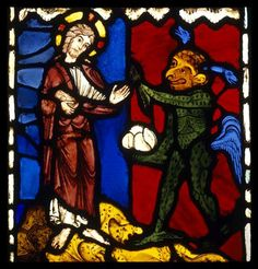 Medieval Stained Glass, Examples Of Art, Grisaille, Macabre, Glass Ornaments, Art History, Devil, Creepy, Art Ideas