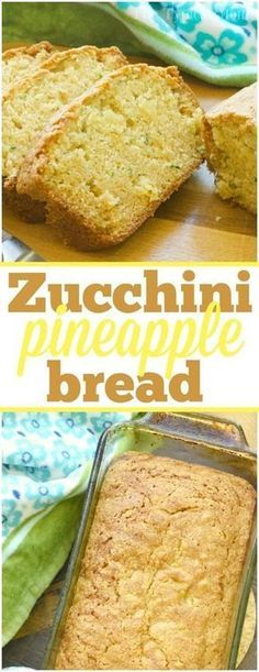 Zucchini pineapple bread is so amazing! The best way to make zucchini bread super moist and brings in a great sweetness naturally with added pineapple. via (Bake Zucchini Dip) Zucchini Pineapple Bread, Zucchini Bread Recipes, Zuchinni Desserts, Best Moist Zucchini Bread Recipe, Pineapple Recipes Vegan, Healthy Zucchini Recipes, Zuchinni Cookies, Zuchinni Cupcakes, Healthy Recipes