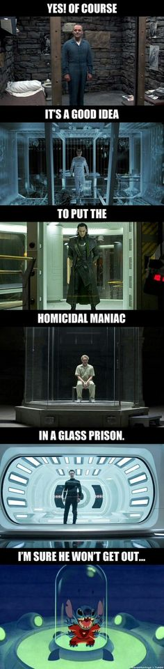 "It is Loki in a ""GLASS"" prison"