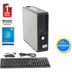 Dell Pre-Owned,  Refurbished GX745 Small Form Factor Desktop PC with Intel Pentium D Processor, 2GB Memory, 160GB Hard Drive and Windows 7 Professional (Monitor Not Included)