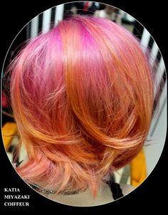 Katia Miyazaki Coiffeur - Salão de Beleza em Floripa: cabelo multicolorido - hair style - sunset hair - ...