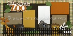 A Day At The Zoo (new) Scrapbook Page Kit - Click Image to Close