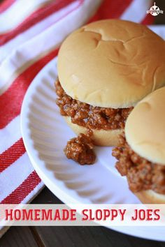 Sloppy Joes - a quick and easy family dinner.