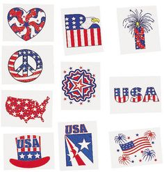 my kids loved these last 4th of July Glitter Patriotic Temporary Tattoos