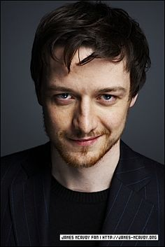 James MacAvoy has that half smile that makes me just a little wobbly in the knees.