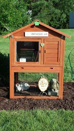 Laurie Fraher. Somers, CT. Our family loves to read and we always have books everywhere. We learned about the Little Free Library in a home school magazine and thought it would be fun. My children saved money to purchase our charter for my Mother's Day gift and we all worked together to restore an old bunny cage. The Bunny Hutch Little Free Library was created by our whole family for the love of books and learning.