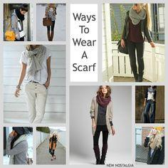 New Nostalgia | Ways To Wear Big Comfy Cozy Scarves #fashion
