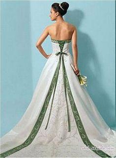 Green Wedding Dress color pop