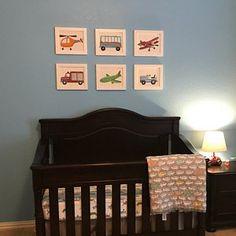 Frances Wuest added a photo of their purchase Truck Nursery, Nursery Art, Art Wall Kids, Art For Kids, Construction Nursery, Transportation Nursery, Boy Art, All Print, Boy Room