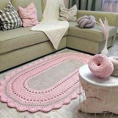 Bathroom interior design ideas rugs 68 new Ideas Crochet Carpet, Crochet Home, Love Crochet, Crochet Baby, Knit Crochet, Crochet Doilies, Crochet Stitches, Crochet Patterns, Diy Carpet