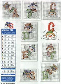 Classic Snowman Alphabet 1