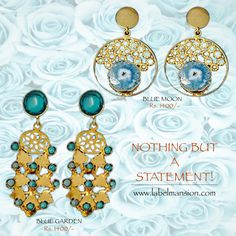 We miss you! We are feeling blue! :) Come shop our jewels online at www.labelmansion.com #labelmansion #jewellery #statement #earrings #shoponline #india