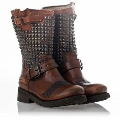 ASH Boots Women's Trash Miel Leather Biker