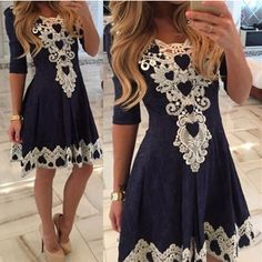 Autumn Summer Womens Evening Party Lace Dress Fall Half Sleeve Sexy Casual Dresses Brazil Vestidos De Festa $18.99   => Save up to 60% and Free Shipping => Order Now! #fashion #woman #shop #diy  http://www.greatdress.net/product/2016-autumn-summer-womens-evening-party-lace-dress-fall-half-sleeve-sexy-casual-dresses-brazil-vestidos-de-festa/