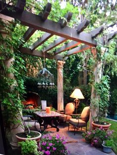 perfect patio ideas for your outdoor living room page 19 Outdoor Pergola, Backyard Pergola, Outdoor Rooms, Backyard Landscaping, Outdoor Living, Pergola Kits, Pergola Ideas, Patio Ideas, Gazebos