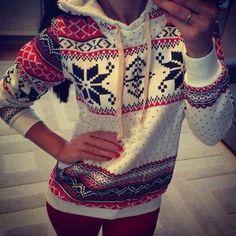 Autumn-Winter-Women-Xmas-Snowflake-Sweatshirt-Hoodies-Top-Sweats-Fleece-Pullover
