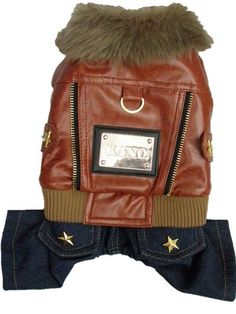 Howdy, Partner! Is your doggy a little bit of a rebel sometimes? This Leather Cowboy Jacket and Jeans combo is the perfect piece of clothing to match that attitude. https://www.dressyourdoggy.com/collections/outdoor-coats/products/leather-cowboy-outdoor-jacket?variant=27300076297