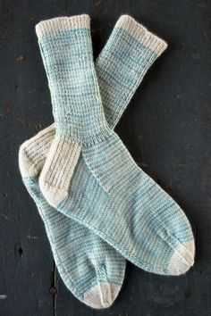 "craftic: "" (via Whit's Knits: Striped Crew Socks - The Purl Bee - Knitting Crochet Sewing Embroidery Crafts Patterns and Ideas!) """