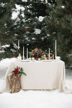 Christmas Woodland Wedding