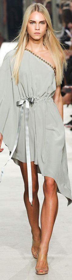 Grey one sleeve. Asymmetrical dress gold trim