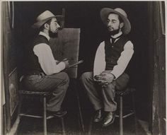Maurice Guilbert e Henri de Toulouse-Lautrec, Henri de Toulouse-Lautrec como artista y modelo de 1892, el Museo de Arte de Filadelfia, regalo de Henry P. Mcllhenny, el Museo Metropolitano de Arte.