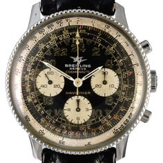 """42.3mm. case and """"breads of rise"""" bezel.  In 1959, the astronaut Scott Carpenter suggested to Breitling that they develop a Navitimer that incorporated a 24-hour dial instead of the normal 12-hour dial. The reason is that there's no day and night like we have on Earth, so its really complicated for the human body to adapt itself to this new situation. The 24-hour dial could help the astronaut to have a time measure. In 1962, Carpenter orbited the Earth three times wearing his Breitling…"""