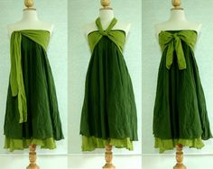 Colour    Bridesmaid Dress Forest Green Cotton Bridesmaid Dress by idea2wear, $49.00