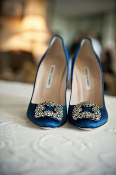 Carrie Bradshaw's now famous wedding shoes by Manolo Blahnik.