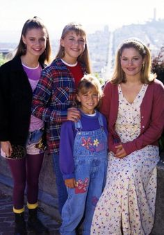 This is the Tanner family the one on the very left is not in the Tanner Family only, Stephanie Tanner, DJ Tanner, and Michelle Tanner.