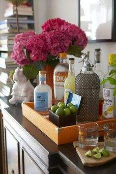 @Erin Gates bar styled by StacyStyle, photographed by Michael Partenio for @Better Homes and Gardens
