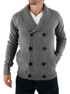 28 Blouse Fashion Ideas Trending Now - Fashion New Trends Mens Shawl Collar Cardigan, Knit Cardigan, Trending Now Fashion, Gents Fashion, Fall Fashion, Hand Knitted Sweaters, Wool Sweaters, Gq Style, How To Purl Knit