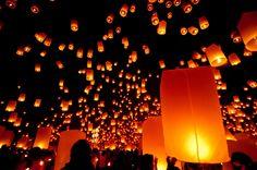 Festival das lanternas na Tailândia            Fotos: Expedia/Divulgação